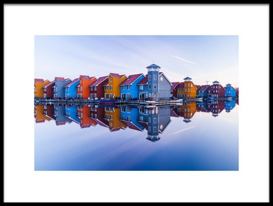 Buy this art print titled Colored Homes by the artist Ton Drijfhamer