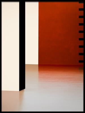 Art print titled Colored Walls II by the artist Inge Schuster