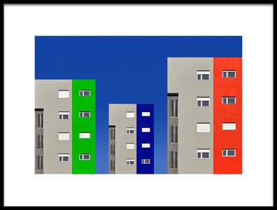Art print titled Colorful Street by the artist Aleksandar Naumceski