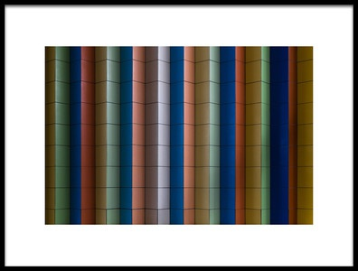 Art print titled Colorful Stripes by the artist Rolf Endermann