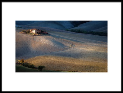 Art print titled Colors of Tuscany Sunset by the artist Marek Boguszak