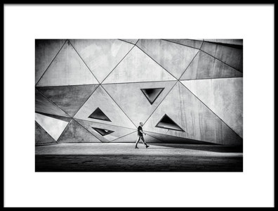 Art print titled Concrete City by the artist Yuval Shiboli
