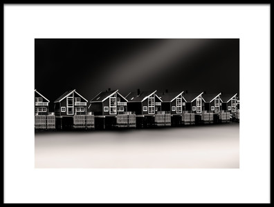 Art print titled Cottages by the artist Peter Futo