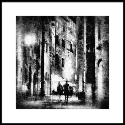 Art print titled Couple at Night by the artist Vincenzo Pascale