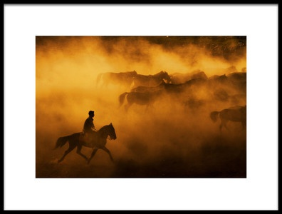Art print titled Cowboy by the artist feyzullah tunc
