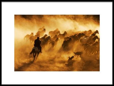 Art print titled Cowboy by the artist feyzullah tunc