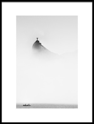 Buy this art print titled Cristo In the Mist by the artist Trevor Cole