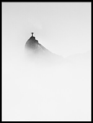 Art print titled Cristo In the Mist by the artist Trevor Cole