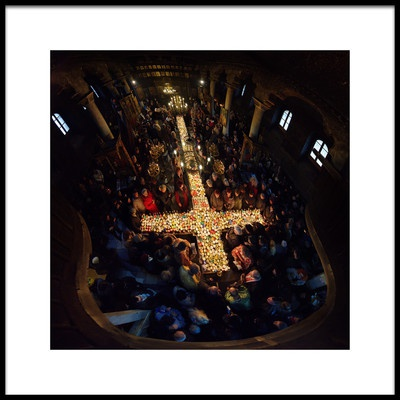 Buy this art print titled Cross and Candles by the artist Ruslan Asanov