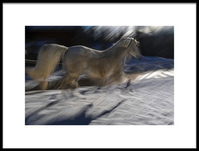 Art print titled Crossing Alone by the artist milan malovrh