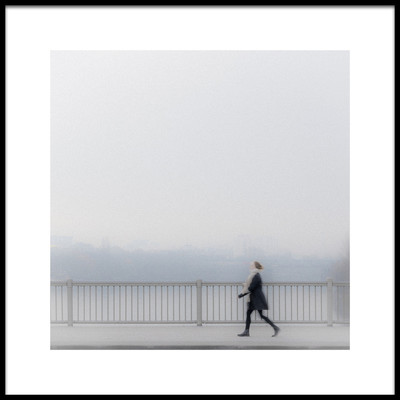 Art print titled Crossing Bridge by the artist Andreas Bauer