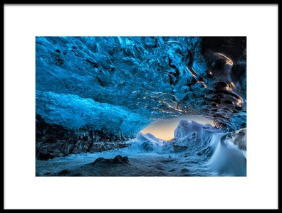 Art print titled Crystal Cave by the artist Bragi Kort