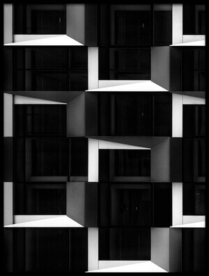 Buy this art print titled Cubic Black and White by the artist Henk van Maastricht