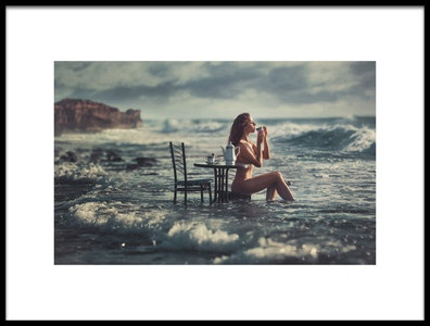 Art print titled Cup of Tea by the artist Evgeny Loza