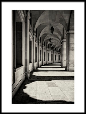Buy this art print titled Curved Corridor by the artist Louise Wolbers