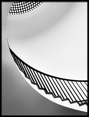 Art print titled Curving Up by the artist Jeroen van de Wiel
