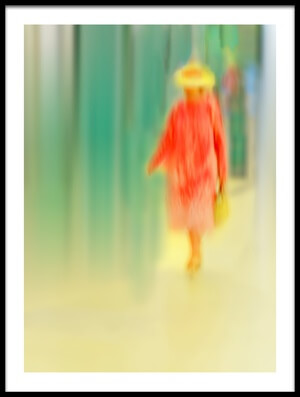 Art print titled Dame In Rot by the artist Anette Ohlendorf
