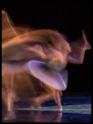 Art print titled Dancer In Slow Motion by the artist Adam Wong