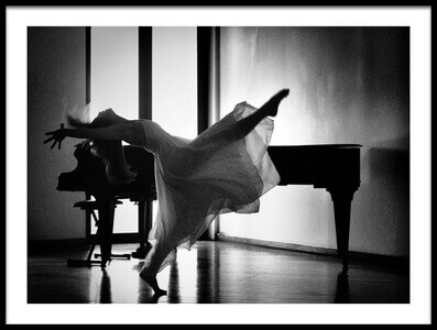 Buy this art print titled Dancing by the Piano by the artist Paulo Medeiros
