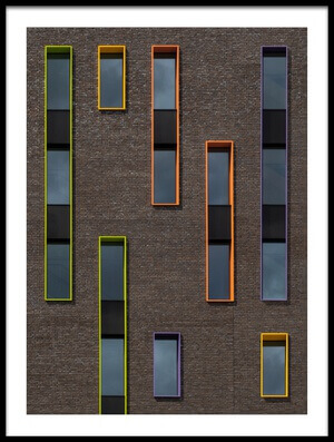 Art print titled Dancing Windows by the artist Luc Vangindertael (laGrange)