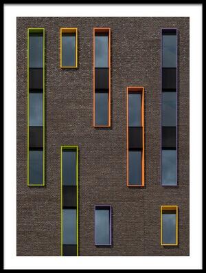 Buy this art print titled Dancing Windows by the artist Luc Vangindertael (laGrange)