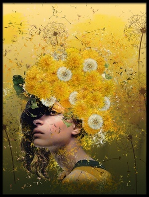 Art print titled Dandelions by the artist Natalia Simongulashvili   ( NATALIORION )