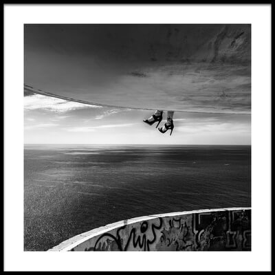 Art print titled Dangling Shoes by the artist Burkhard Achtergarde