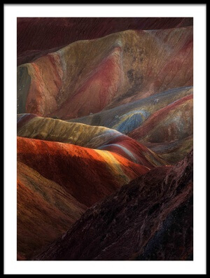 Buy this art print titled Danxia Landforms by the artist FEI SHI