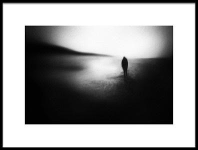 Art print titled Dark Coast by the artist Marianne Siff Kusk