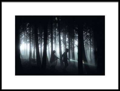 Art print titled Dark Forest by the artist Rui Caria