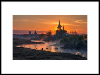 Art print titled Dawn In Dunilovo by the artist Sergey Davydov