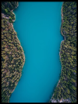 Art print titled Deep Blue by the artist Antonio Carrillo Lopez