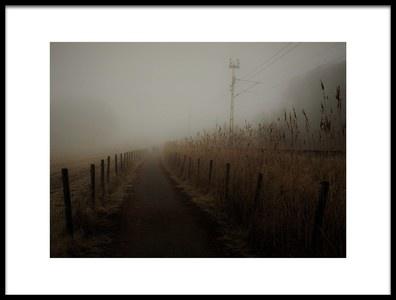 Art print titled Deeply Into the Fog by the artist Kremena Nikolaeva