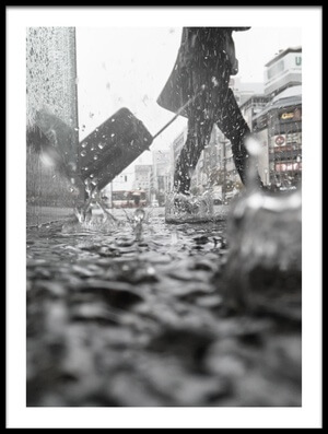 Buy this art print titled Departure On a Rainy Day by the artist Kumiko Nakata