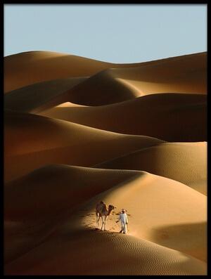 Buy this art print titled Desert Walk by the artist Shoayb Hesham Khattab