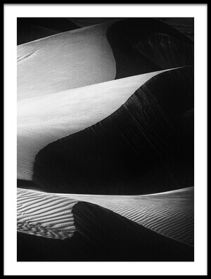 Art print titled Desert Waves by the artist Rami Al Adwan