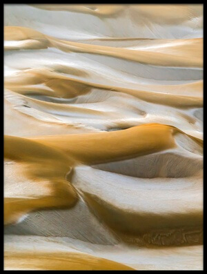 Art print titled Desert Winter by the artist Hua Zhu