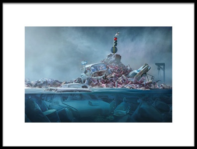 Art print titled Destruction of the Environment by the artist sulaiman almawash