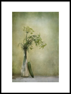Buy this art print titled Dill and Cucumber by the artist Priska Wettstein
