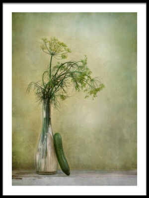 Art print titled Dill and Cucumber by the artist Priska Wettstein