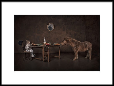 Art print titled Diner With My Friend by the artist Carola Kayen-Mouthaan