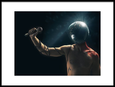 Art print titled Disco Tragedy by the artist Dan-Stefan Susa