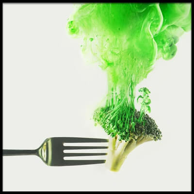 Art print titled Disintegrated Broccoli by the artist Dina Belenko