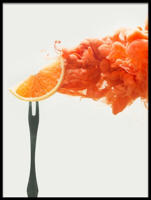 Art print titled Disintegrated Orange by the artist Dina Belenko