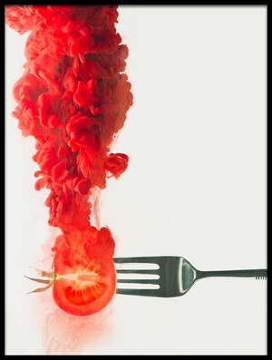 Art print titled Disintegrated Tomato by the artist Dina Belenko
