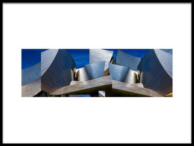 Art print titled Disney Concert Hall-Montage (Color Version) by the artist Ron Jones