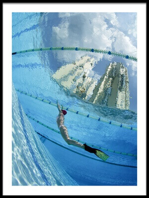 Art print titled Dive Into the City by the artist Andrey Narchuk