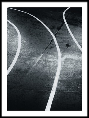 Art print titled Diverging Lines by the artist Dani BS.