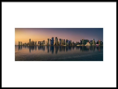 Art print titled Doha Reflections by the artist Antoni Figueras