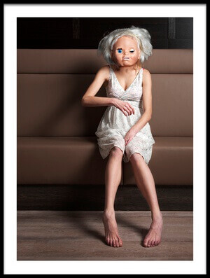 Buy this art print titled Doll Girl by the artist Ton Dirven